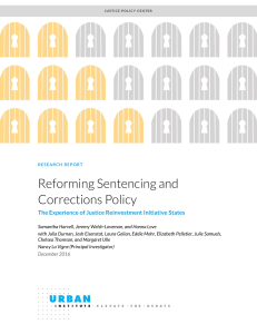 Reforming Sentencing and Corrections Policy