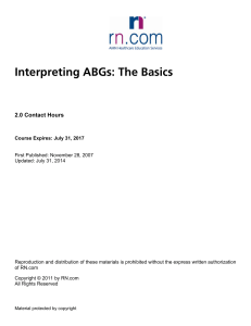 Interpreting ABGs: The Basics