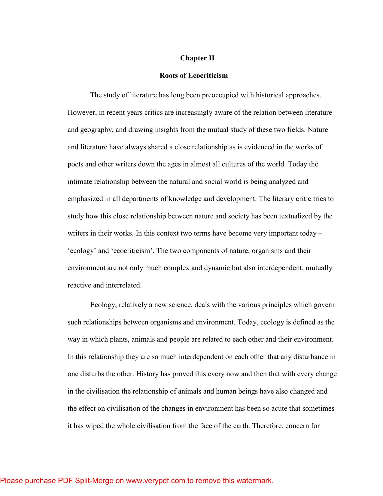 william rueckert literature and ecology