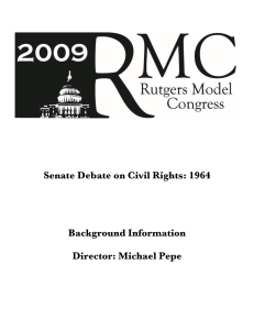 Senate Debate on Civil Rights: 1964 Background Information
