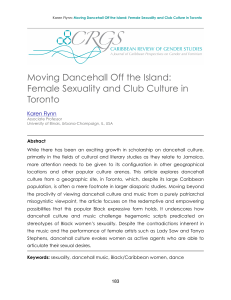 Moving Dancehall Off the Island - UWI St. Augustine