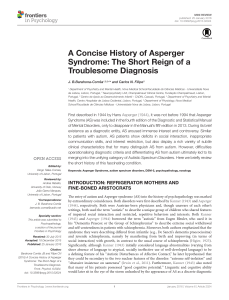 A Concise History of Asperger Syndrome: The Short