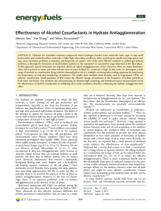 Effectiveness of Alcohol Cosurfactants in Hydrate Antiagglomeration