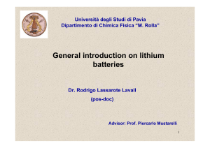 General introduction on lithium batteries