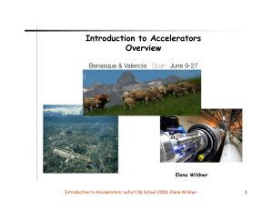 Introduction to Accelerators Overview