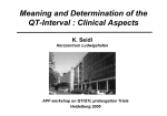 Meaning and Determination of the QT-Interval