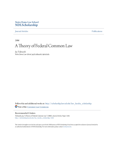 A Theory of Federal Common Law