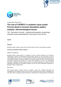 The role of CXORF21 in systemic lupus erythe Porcine blood in