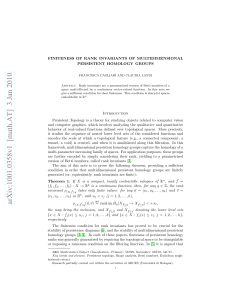 FINITENESS OF RANK INVARIANTS OF MULTIDIMENSIONAL