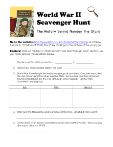 World War II Scavenger Hunt