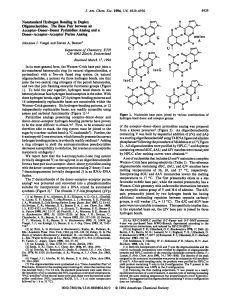 Nonstandard Hydrogen Bonding in Duplex Oligonucleotides. The