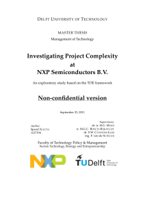 Investigating Project Complexity at NXP Semiconductors B.V. Non