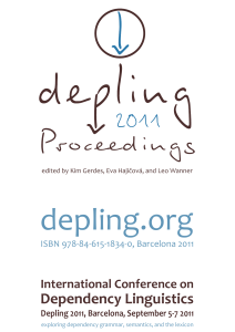 The complete Proceedings of Depling 2011 as a single PDF file