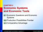 Chapter 2 Economic Systems and Economic Tools