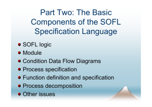 An Introduction to SOFL