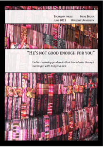 He`s not good enough for you - Utrecht University Repository