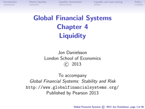 Global Financial Systems Chapter 4 Liquidity
