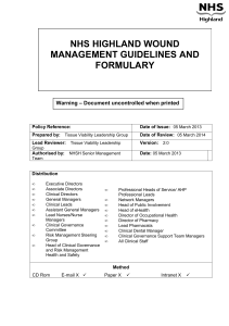 Wound Management Guidelines and Formulary