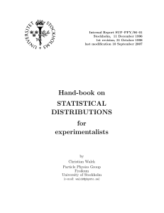 Hand-book on STATISTICAL DISTRIBUTIONS for