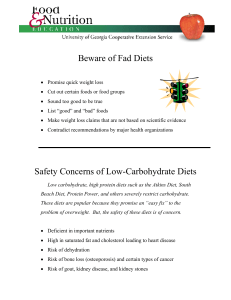 Beware of Fad Diets - University of Georgia