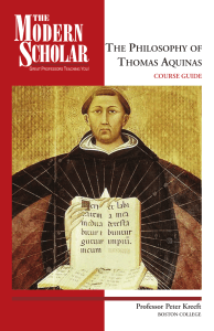 Peter Kreeft-The philosophy of Thomas Aquinas