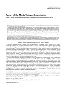 Report of the Media Violence Commission
