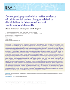 Convergent grey and white matter evidence of
