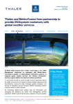 Thales and Météo-France form partnership to provide ECOsystem
