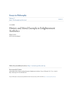 History and Moral Exempla in Enlightenment