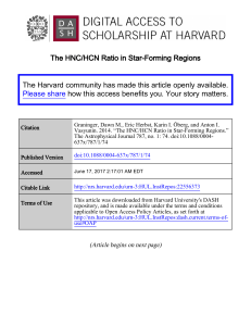 The HNC/HCN Ratio in Star-Forming Regions The Harvard