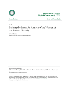 Pushing the Limit: An Analysis of the Women of the Severan Dynasty