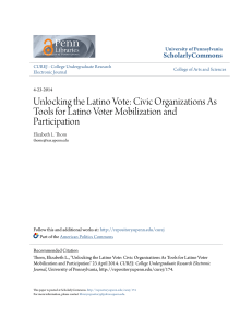 Unlocking the Latino Vote: Civic Organizations As Tools for Latino