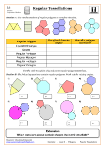 Regular Tessellations - Cazoom Maths Worksheets