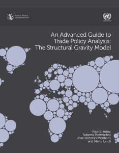 An Advanced Guide to Trade Policy Analysis: The Structural Gravity