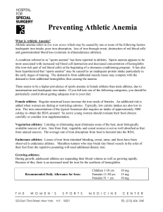 Preventing Athletic Anemia
