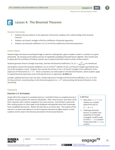 Lesson 4: The Binomial Theorem