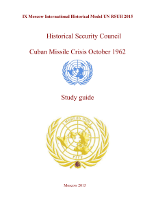 Historical Security Council Cuban Missile Crisis October