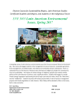 EVR 3003 Latin American Environmental Issues. Spring 2017