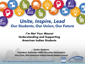 I`m Not Your Mascot - National Education Association