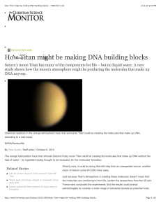 How Titan might be making DNA building blocks