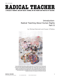 Radical Teaching About Human Rights Part II