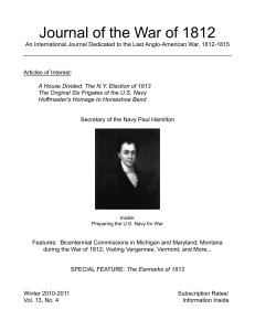 Winter 2010-2011 - Journal of the War of 1812