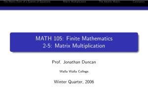 MATH 105: Finite Mathematics 2