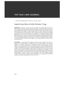 Implicit Racial Bias in Public Defender Triage