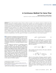 A Continuous Method for Gene Flow