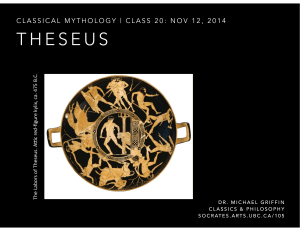 Theseus - Ancient Philosophy at UBC