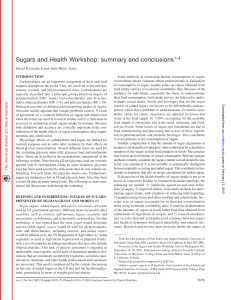 Sugars and Health Workshop: summary and conclusions1–4