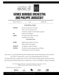 Venice Baroque Orchestra and Philippe Jaroussky