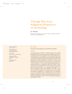 Indigenous Perspectives on Archaeology
