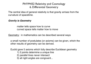 PHYM432 Relativity and Cosmology 6. Differential Geometry